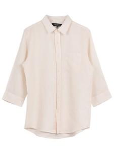 フレンチリネン7ブシャツ