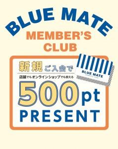 【開催予告】BLUE MATEメンバーズ会員新規登録キャンペーン開催
