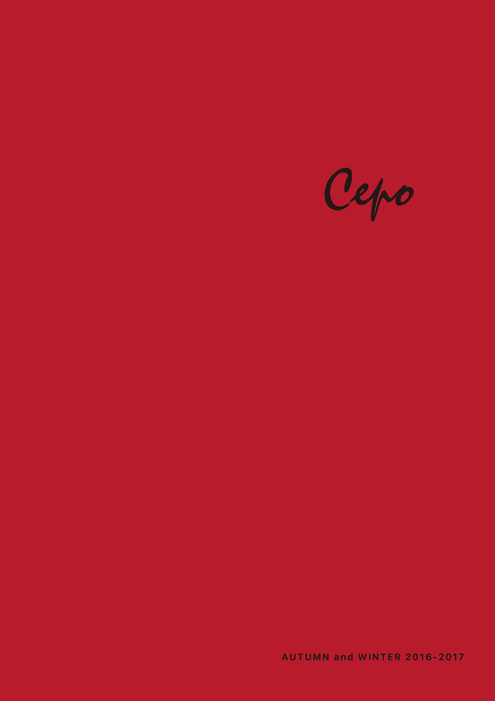 Cepo AUTUMN and WINTER 2016-2017