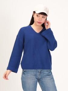 ニュアンスガーター編みプルオーバー