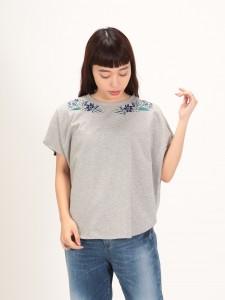 裾ラウンド半袖Tシャツ