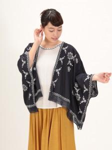 レーヨン刺繍カーデ