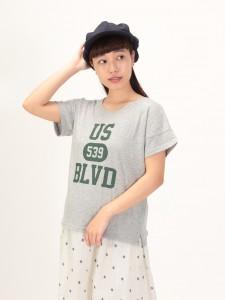 スラブロゴ半袖Tシャツ
