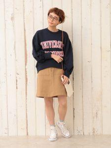 Wポケットボックススカート