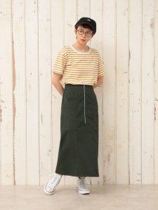 ジップWポケットスカート