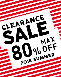 SUMMER CLEARANCE SALE開催