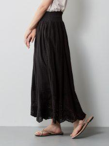 スカラップ2WAYスカート