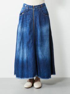 リメイクデニムZIPスカート